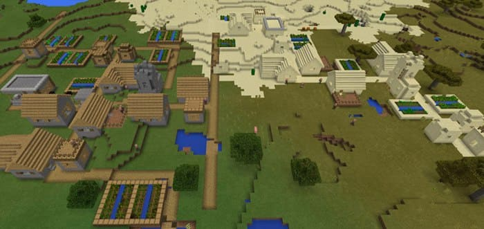 MINECRAFT PE SEEDS CITY FOR ANDROID - СИД Double Village